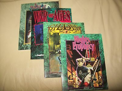 VAMPIRE THE MASQUERADE RPG 4 item lot by WWP White Wolf