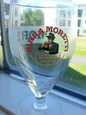 BIRRA MORETTI  UK Version HALF PINT BEER GLASS