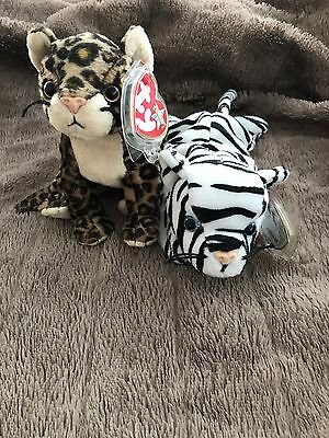 Ty Beanie Babies Sneaky And Blizzard - Rare