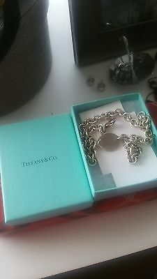 Women's Tiffany & Co Oval Necklace Sterling Silver 100% Genuine Rrp370