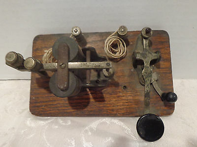 Antique Vintage Telegraph Transmitter key With Sounder GREAT CONDITION.