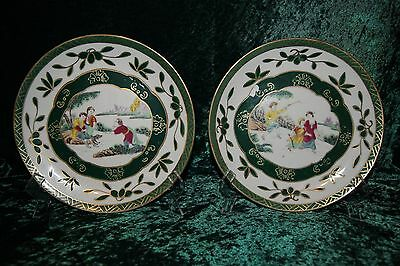 iBeautiful Chinese Porcelain Plates With European Scenes and Jiaqing Mark