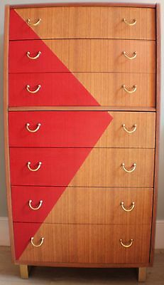 G Plan 1960's mid century 'Tola' tall boy / chest of drawers