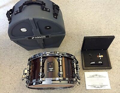 "Sonor One Of A Kind Black Chacate 14x7"" (1 of 80) maple snare drum"