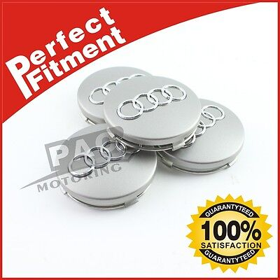 Crazy Sale Center Caps For Audi 60mm Emblem Logo Badge Hub Wheel Rim 4pcs