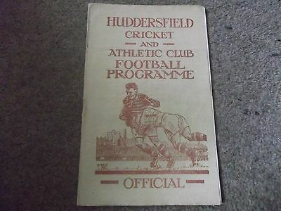 Rare Vintage Huddersfield V Castleford 31St August 1949 1949/50 Rugby League