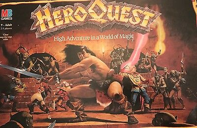 MB Heroquest - COMPLETO - vers. in Inglese UK gioco da tavolo vintage HERO QUEST