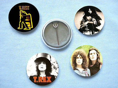 T.Rex-Set 1 Of Four  Badges Marc Bolan