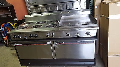 """Used S684-24G Garland Electric 6 Burner Range With 24"""" Griddle And 2 Ovens"""