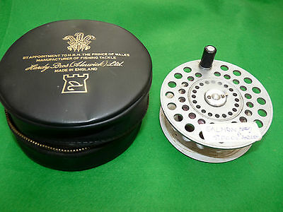 Hardy St Andrew fly fishing reel spare spool & hardy zip case