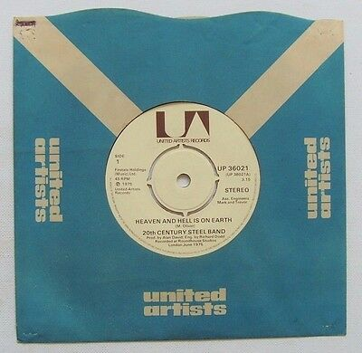 20th Century Steel Band: Heaven & Hell Is On Earth / Theme From Shaft: 1975 (EX)