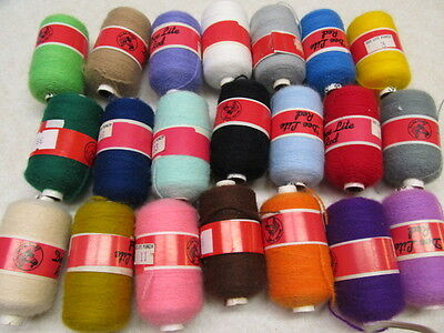 Dee Lite Red Punch Needle Embroidery  Thread ( 21 Assorted Colors)