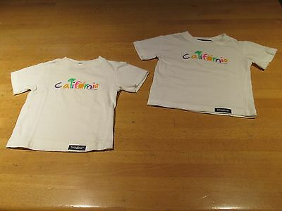 NWD Lot of 2 Imagine Baby Boy 12 Months White Short Sleeve 'California' T-Shirts
