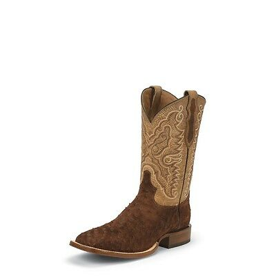 c5563ef12d6 Tony Lama Men s Cigar Full Quill Ostrich Cowboy Boot Square Toe - 9093
