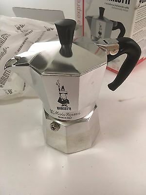 Bialetti Moka Express 3-Cup 3 Cups Stovetop Percolator - Silver