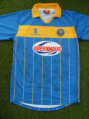 Shrewsbury Shirt Hand Signed by 2016/2017 Squad - 19 Autographs - Brown, Dodds