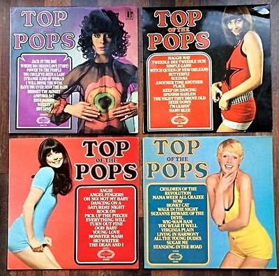 Set of 4 Top Of The Pops UK vinyl LP's