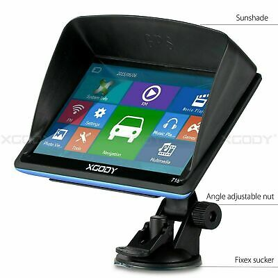 8GB Sat Nav Truck Car HGV GPS Navigation 7'' Navigator Bluetooth AV IN XGODY 704