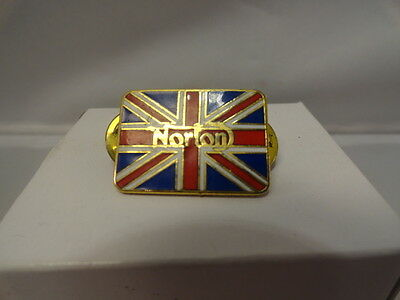 Norton  Motorcycle Pin Gold and Patriotic Striped