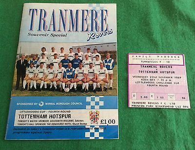 Tranmere Rovers V Tottenham Hotspur Littlewoods Cup 1989 Ticket Stub