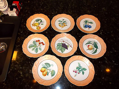 Mottahedeh Vista Allegre Fruit Plates (8)  #1824 Portugal