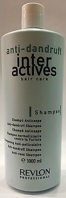 Inter Actives Anti Dandruff Champu Anticaspa Revlon 1000ML ProfesionaL
