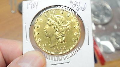 1904 Liberty Head $20 U.S. Double Eagle Gold Coin Great Condition