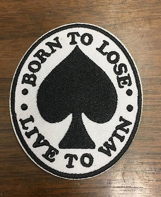 Born to Lose Live to Win Patch, Inspired By Lemmy Tattoo, Motorhead