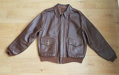 Men's Eastman Leather Type A2 Flying Jacket Air Forces U.S. Army Size 44