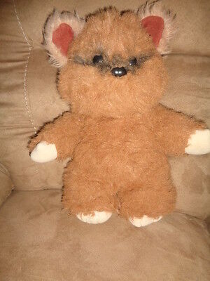 "Star Wars Vintage 1983 Kenner Plush 16"" stuffed fuzzy furry brown Wicket Ewok"