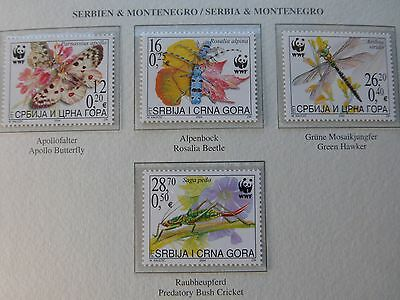 """SERBIA & MONTENEGRO""   # INSECTS #  BLOCK of 4  GROTH AG Nr.01338210"