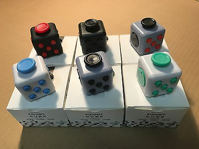 6pc WHOLESALE LOT Fidget Cube Anxiety Stress Relief Focus Toy 6 colors pcs 6x