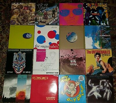 "collection of 7"" singles/records indie/new wave/punk"
