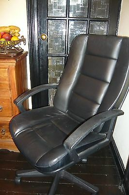 Black Leather Adjustable Executive Office Chair