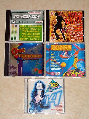 "Lot De 5 CD ""Compilation"" - Dance (Années 90)"