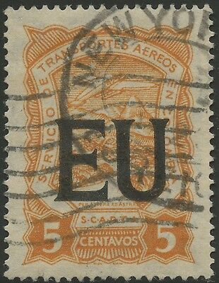 Colombia SCADTA 1923 Used Stamp | Scott #CLEU50 | EU (United States) Overprint
