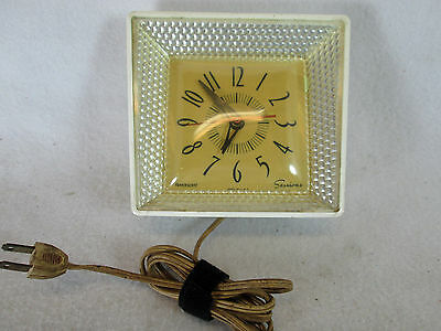 Vintage 1960's Sessions Panelescent electric kitchen wall clock (works)