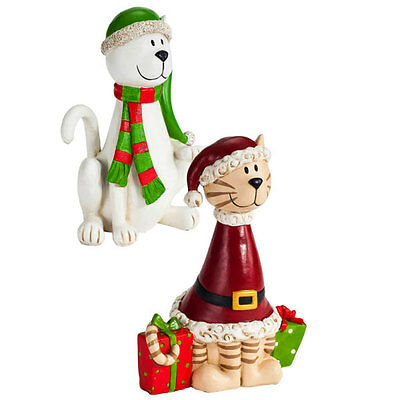 Kitty Cats Holiday Figurine Sitabouts