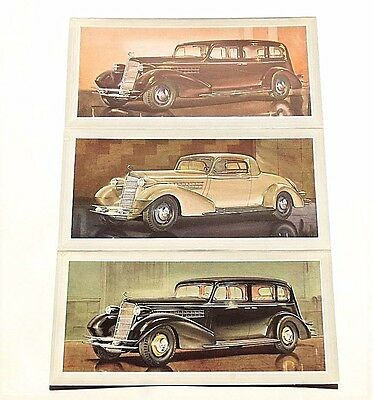"""Three Original 1934 Cadillac Sales & Quotation Cards ~5"""" X 10"""" ~ 12 Pages ~ Cq34"""