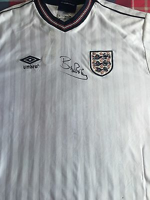 Bryan Robson Hand Signed England Shirt - Manchester United