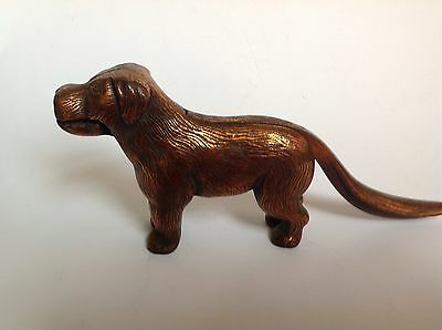 Antique English Freestanding Iron Nutcracker In The Form Of A Dog Pat 273480