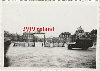 3 photos originales soldats allemands occupation Versailles Paris WW2