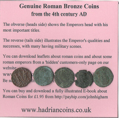 starter-pack of 5 unidentified genuine roman coins @ 20% off