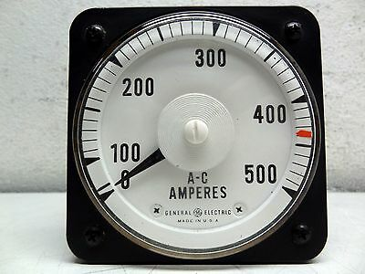 Ge General Electric Model: 8Ab 18A7Al1 40-70 Cy A-C Ammeter Gauge