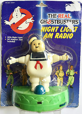 Vintage 1988 The Real Ghostbusters Night Light & Am Radio ~ Brand New In Package