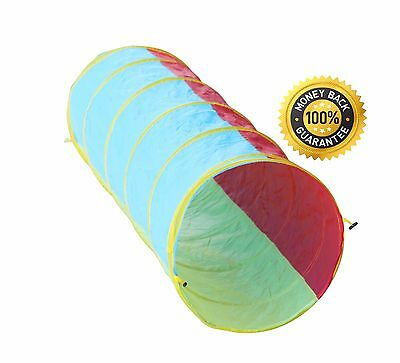Kids 6ft Pop-up Play Tunnel Crawl Toy w/Carry Bag! by Hide-n-Side FREE EXP SHIP!