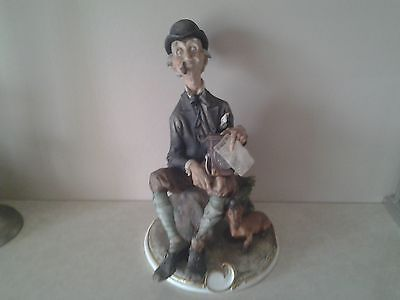 capodimonte figurine 'hurdy gurdy man' signed g. cappe