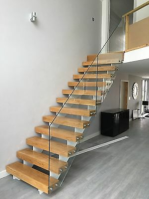 Steel, Oak And Glass Staircase