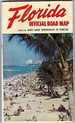 1954 State of Florida Official Highway Map gdc6