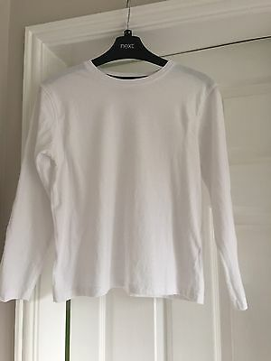 Age 11-12 White Long Sleeved T Shirt Worn A Few Times